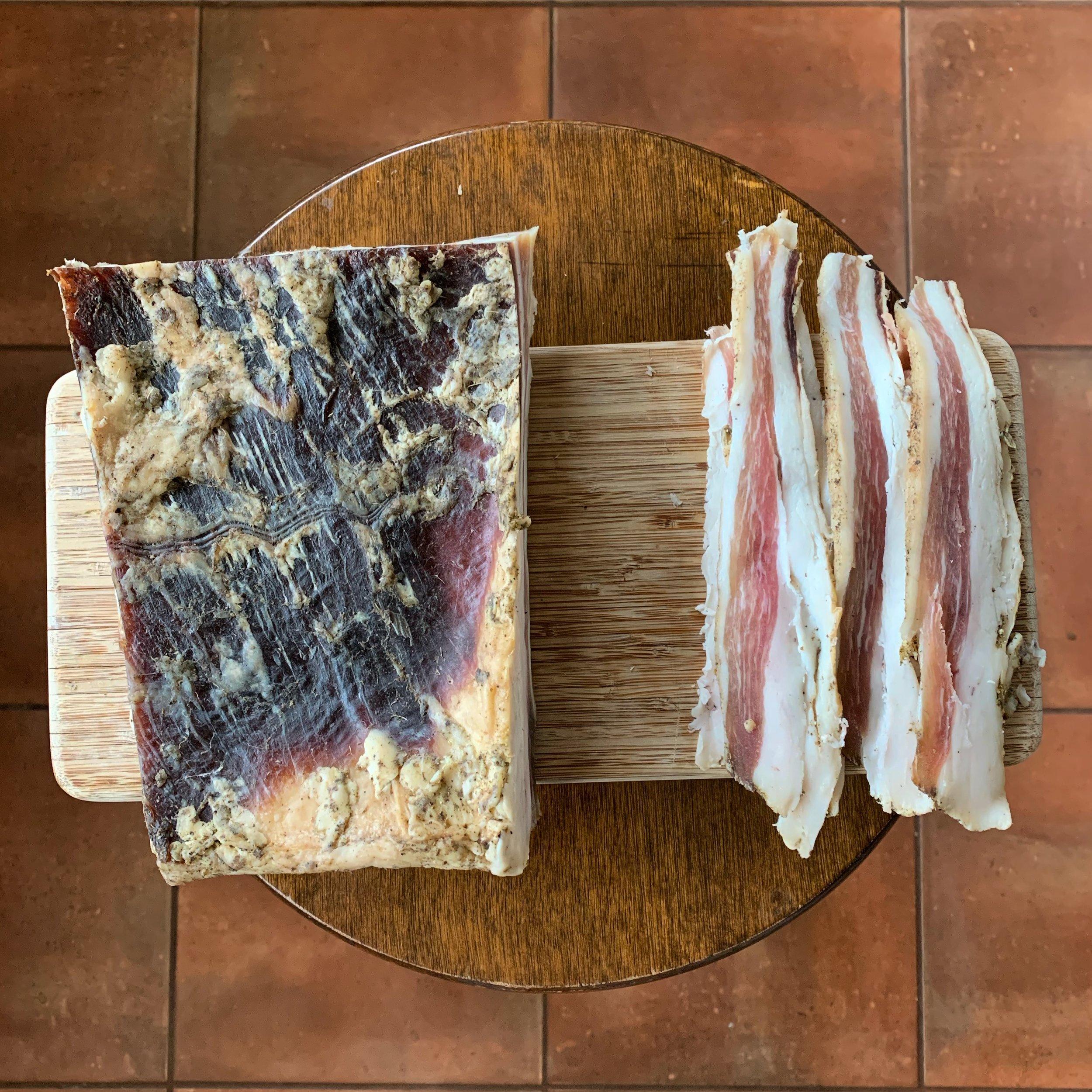Brenna & Austen's pancetta…