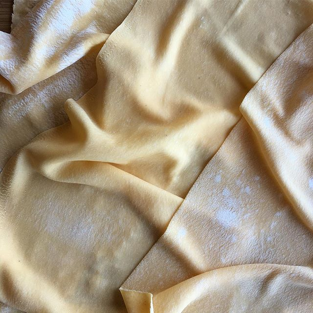 Silky fresh pasta sheets ready to cook for tonight's crab lasagna🦀 #handmade #freshisbest