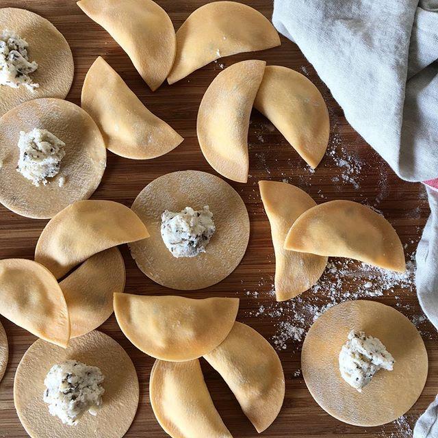 Saturday mood.....truffle, ricotta, parmesan filled agnolotti #freshpasta #italianfood #delposto2409 #joblove
