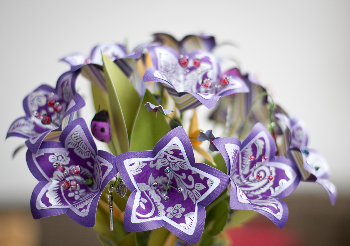 Paper wedding bouquet.