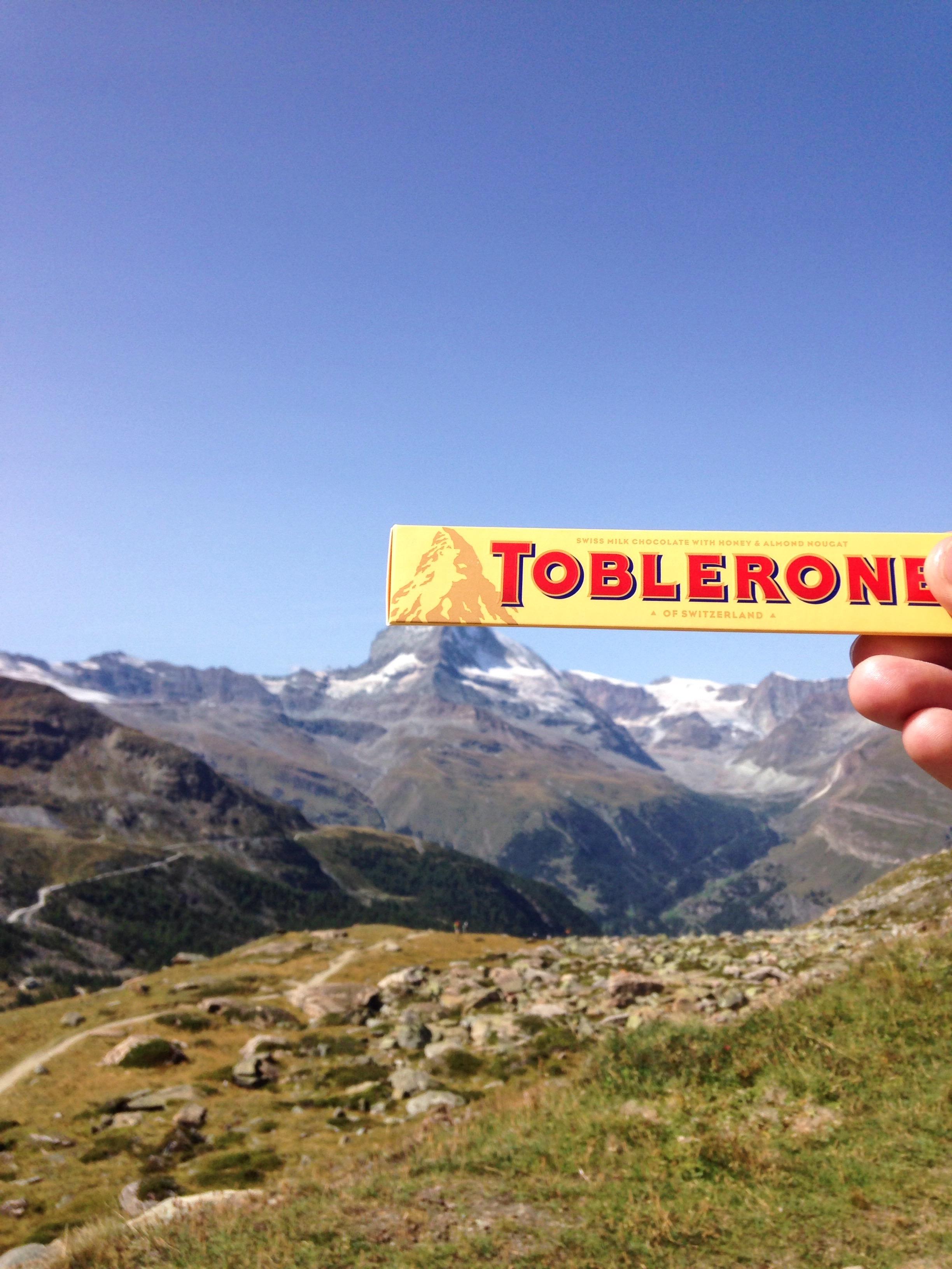 Toblerone at the Matterhorn