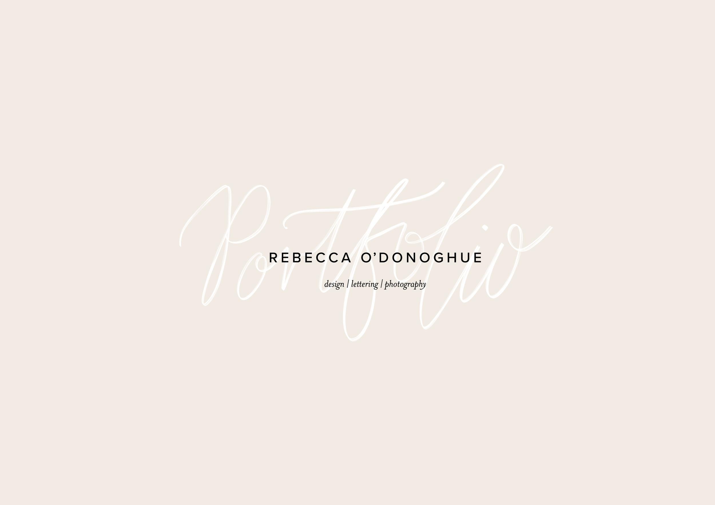 Rebecca O'Donoghue Portfolio