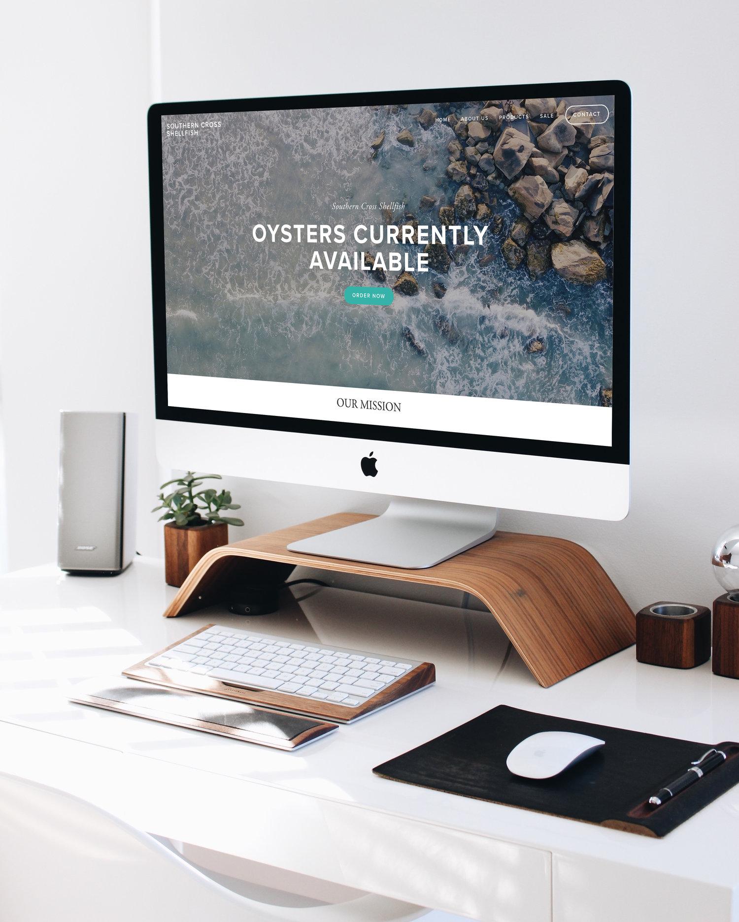 Website design for Southern Cross Shellfish