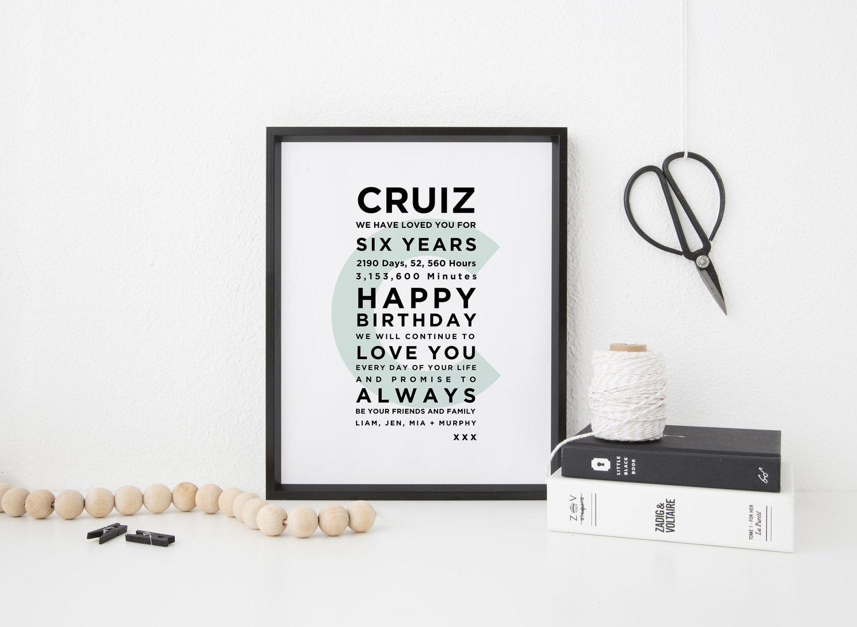 Typography Print - Rebecca Lee Creative