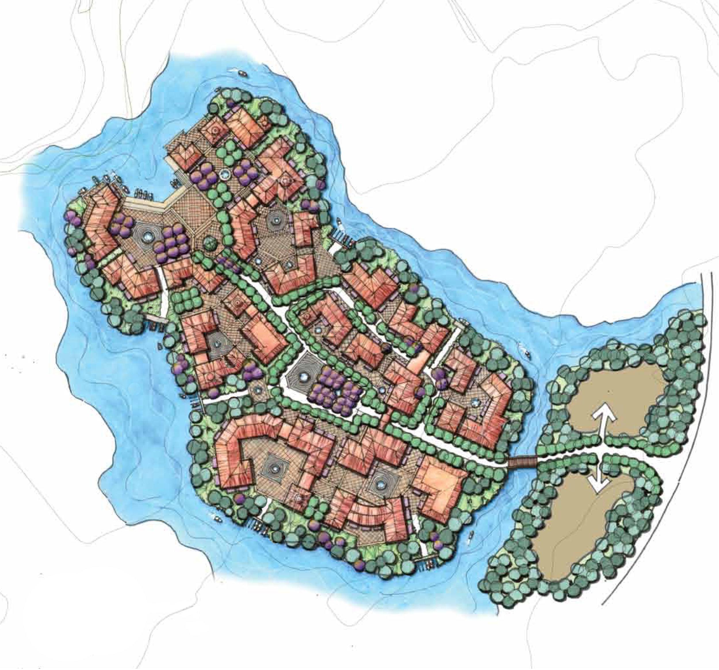 fishing village concept