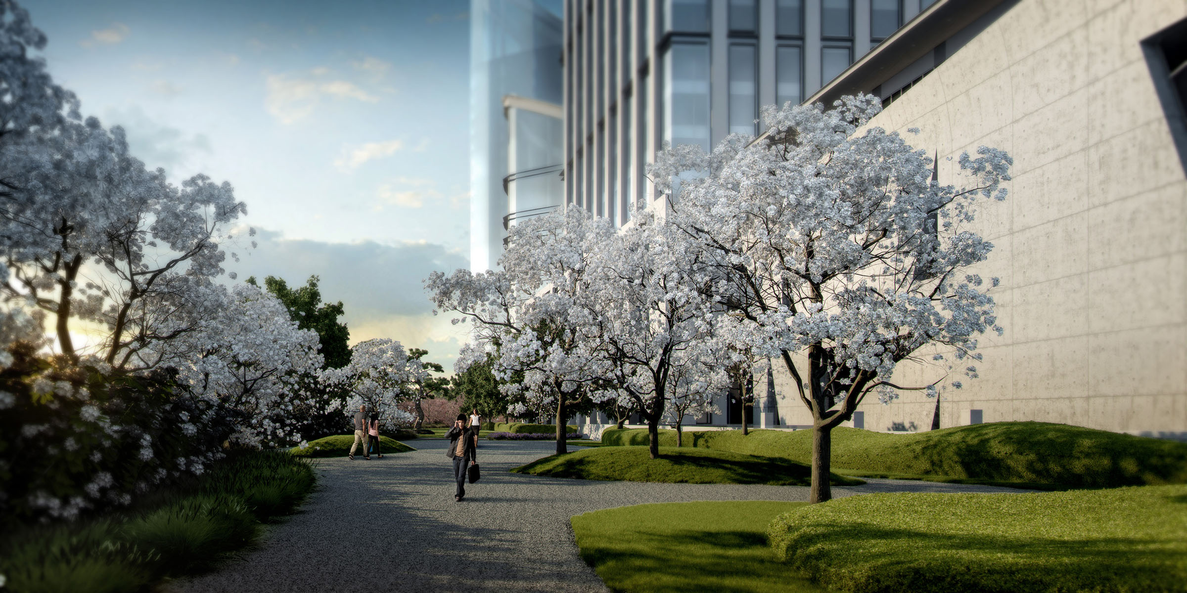 museum garden view (produced by genesis & professional rendering company)