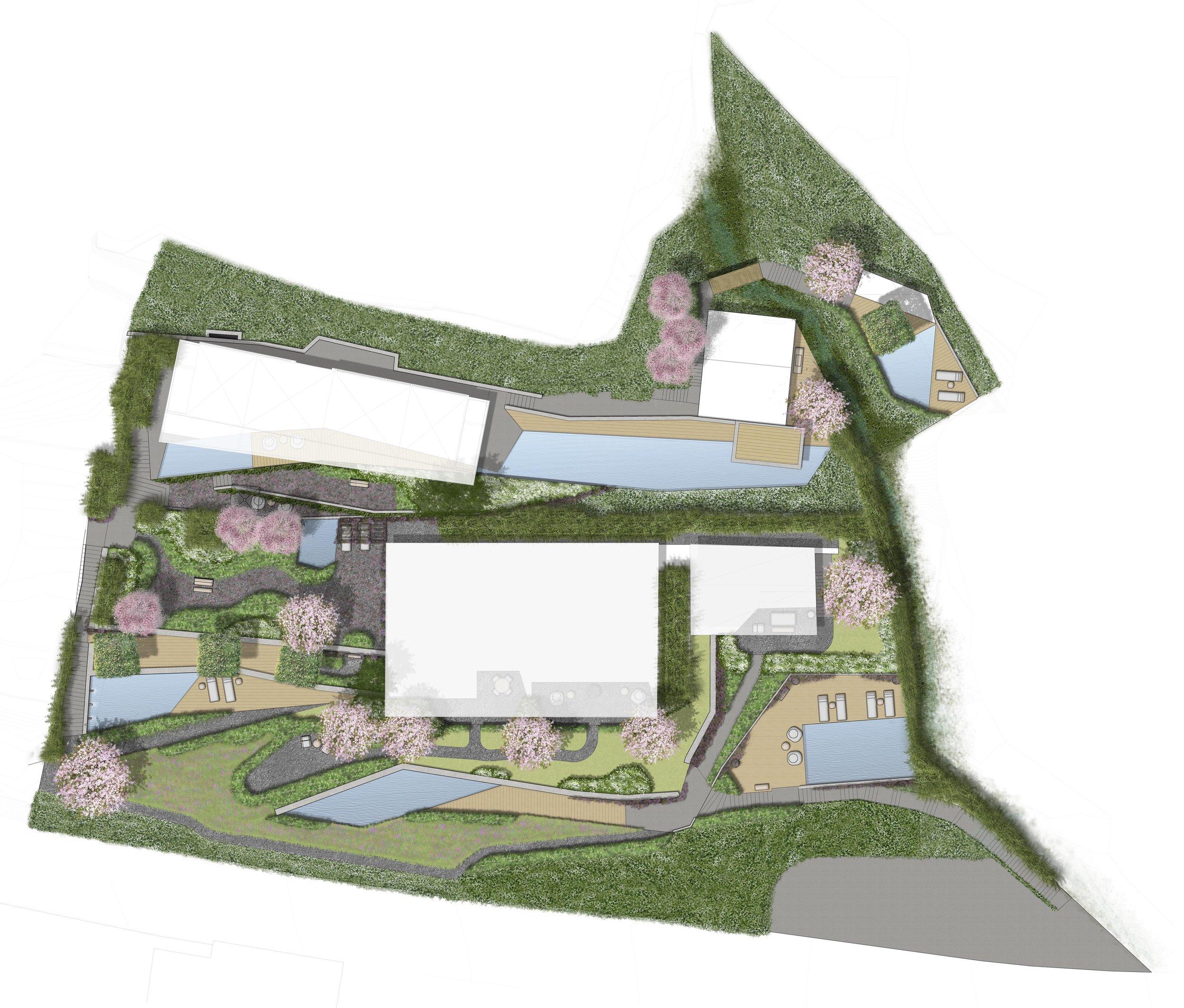 conceptual site plan (drawn by carolina jaimes & lauren clark / enea landscape architecture)