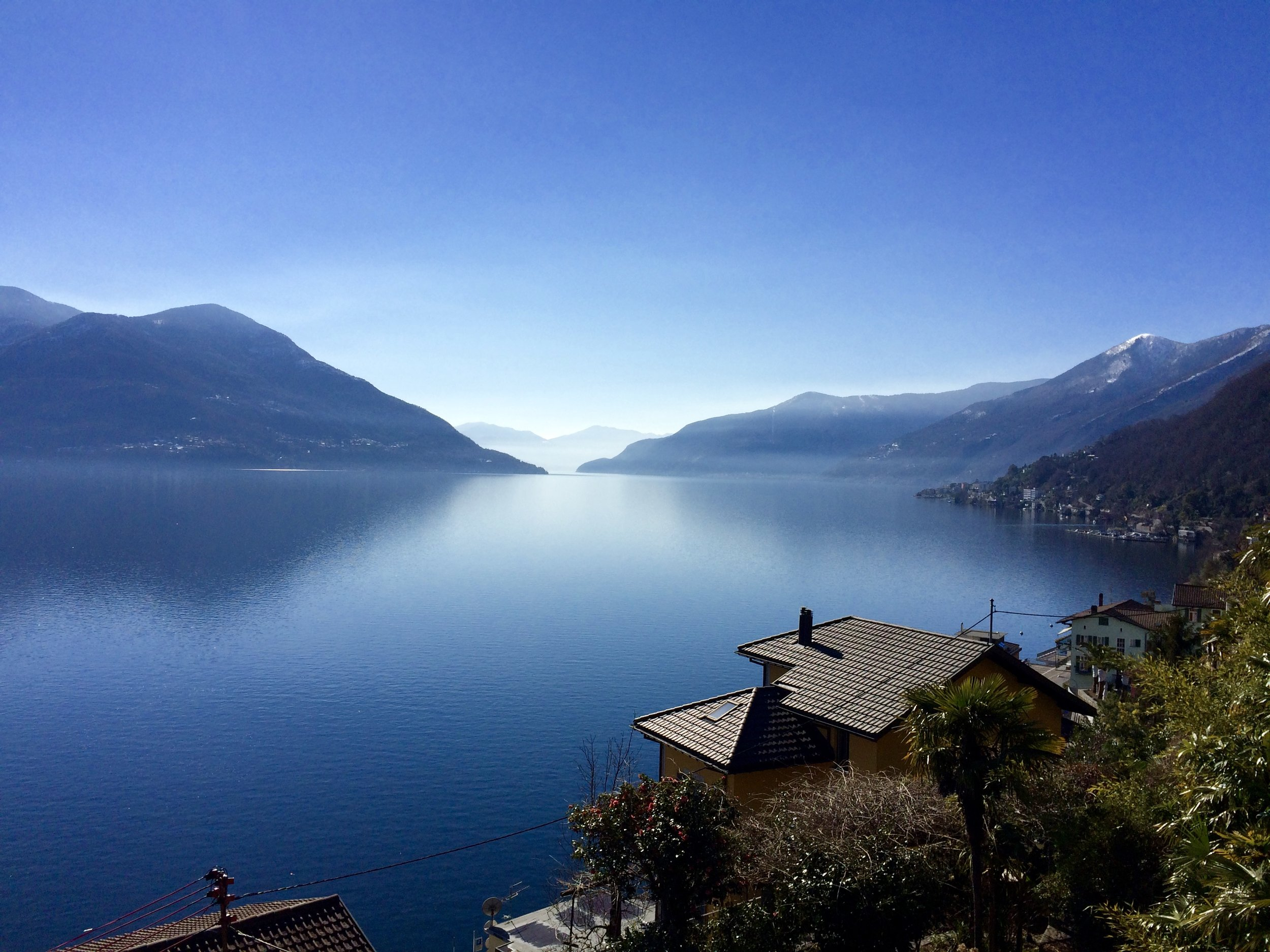 view of lake maggiore from site
