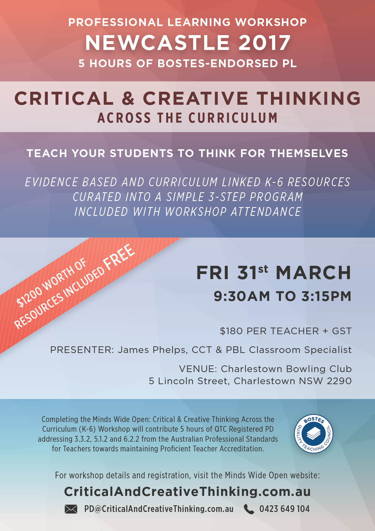 Newcastle CCT Workshop Flyer