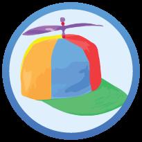 2 rainbow coloured thinking cap
