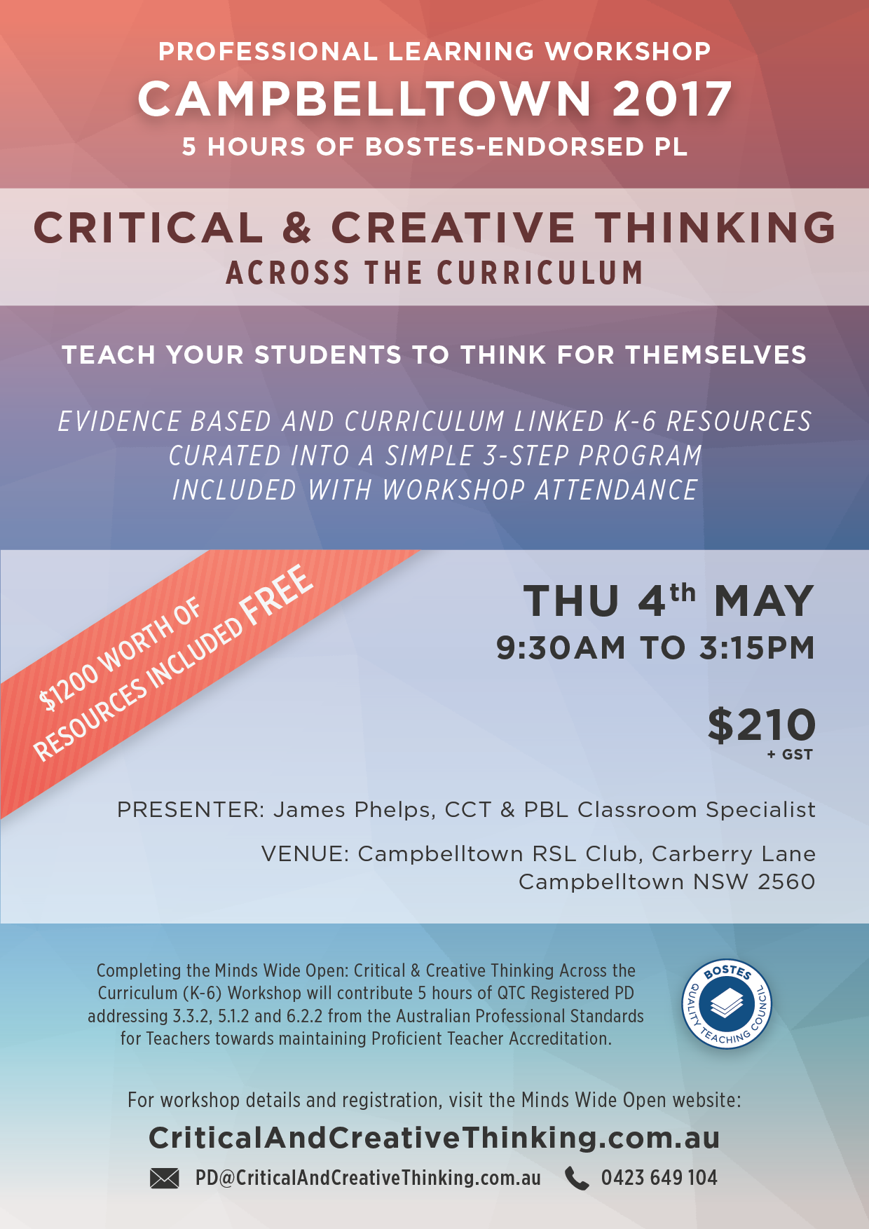 Campbelltown CCT Workshop Flyer