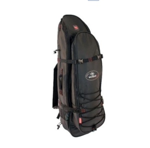 Beuchat Mundial Backpack @S$150     Similar to the Apnea Backpack but with an additional large compartment with side straps for spearguns. Great for those short freediving trips  Note: Has a top strap to keep the bag compact