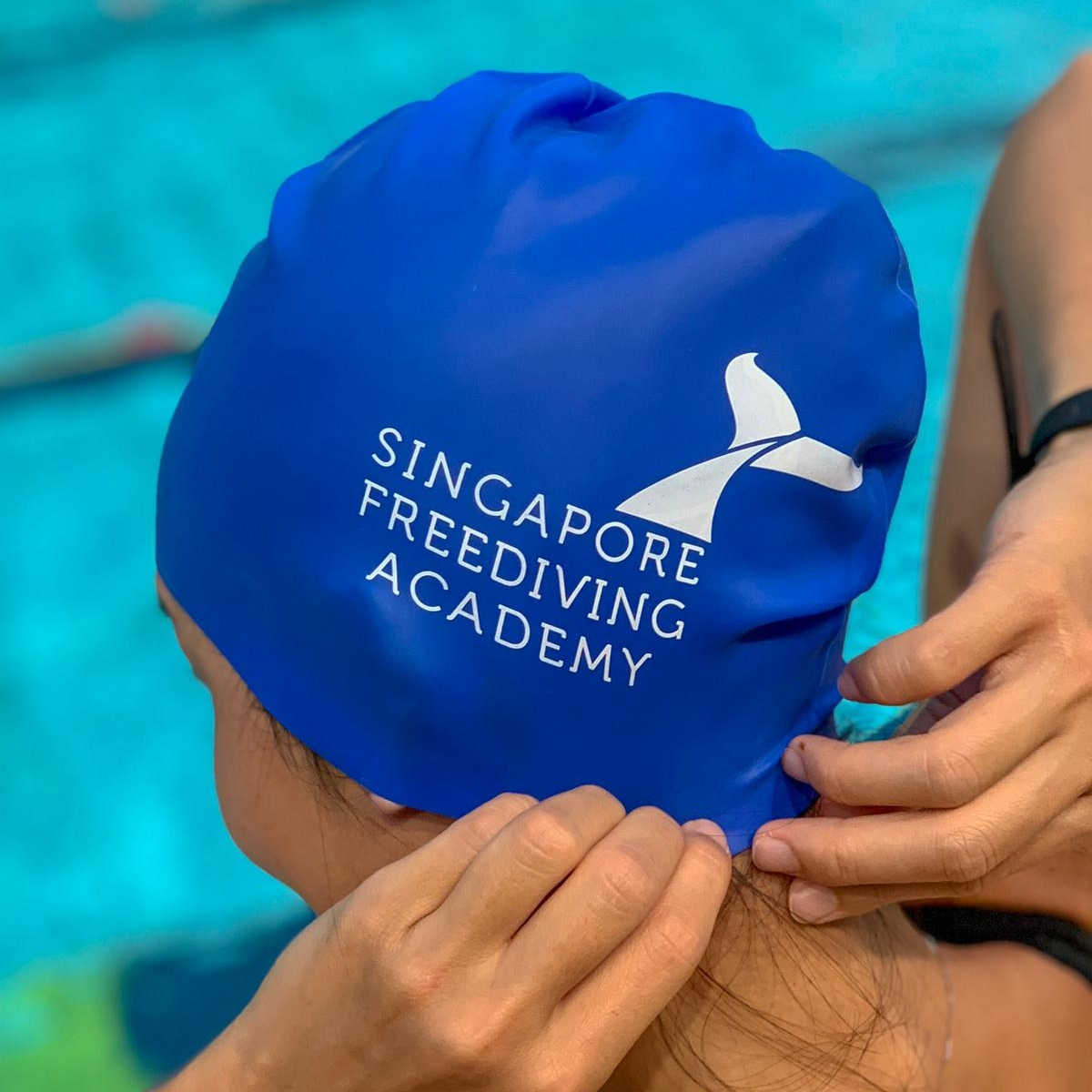 Swim Cap (Blue)    SGD 15
