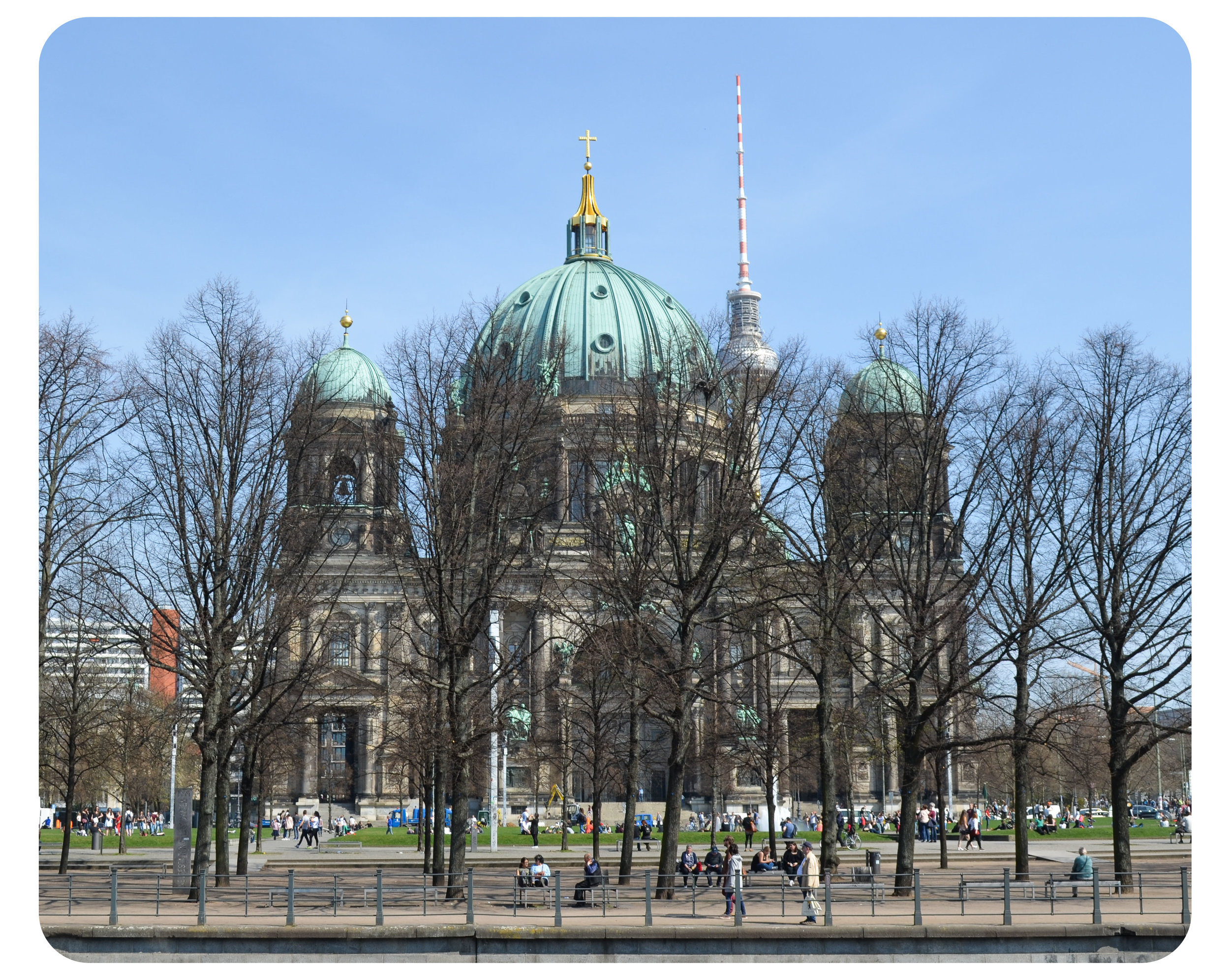 Berlin Cathedral withthe Television Tower in the background