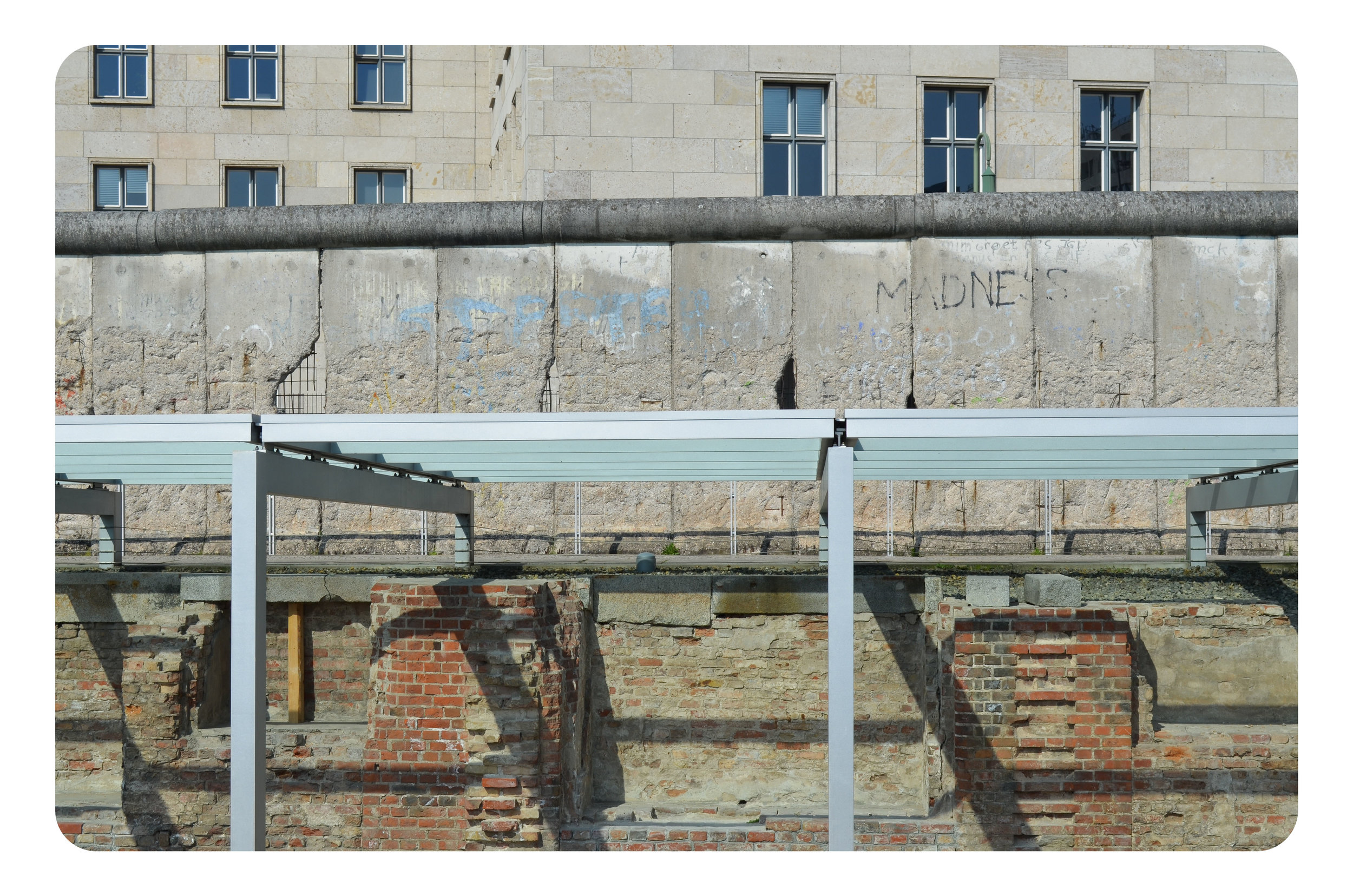 The remainders of the Berlin Wall