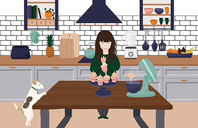 I teamed up with @healthytastesgoood and we made this illustration for the website.  Lila is an amazing, creative, confident, smart lady, who's motivation and aspirations I admire. Working with her was purely a pleasure.  Go check out her blog with all the yummy and healthy recipes at healthytastesgood.pl  #healthy #food #blog #illustration #illustrator #illustrate #digitalillustrator #vectorart #vector #blog #web #sweets #cakes #polishillustrator