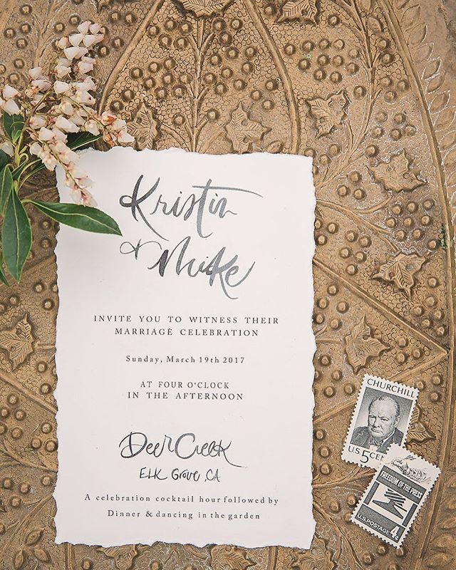 A sneak peek of one of our upcoming shoots 👏🏻 invitations by @landlcreative / photo by @garyashleyphoto of @theweddingartistscollective / planning: @eventsbyrebecca and the rest of the totally amazing vendor team below 👇🏼✨ . . . . . . Styling + Coordinating: @eventsbyrebecca  Venue: @deercreek_wed Photography: @garyashleyphoto of @thewedding_ac Specialty Rentals: @botanicaspecialtyrentals  Florals: @pineapplepetalsstudio  Cake: @paperheartpatisserie Linens: @latavolalinen  Calligraphy + Paper Goods: @landlcreative  MUA: @mmartistry  Groom's Tux: @theblacktux Bridal Salon: @miosabride  Wedding Gown Designer: @enzoani