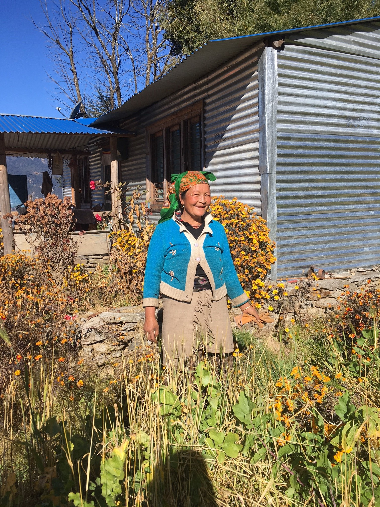 A beautiful Hyolmo lady in Helambu Valley.