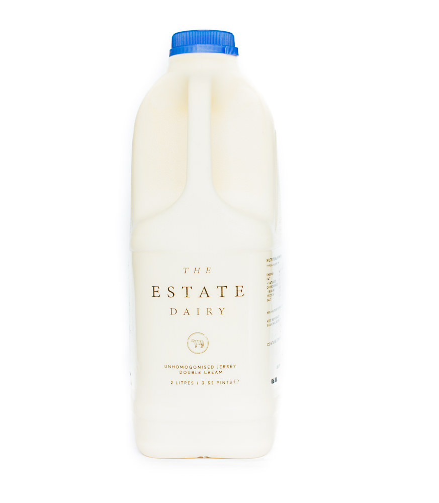 Double Cream   Unhomogenised Jersey and Guernsey 2 Litre