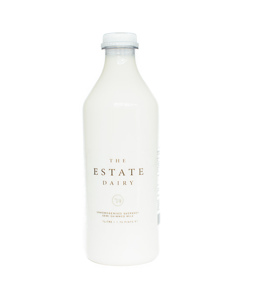 Semi Skimmed Milk / Retail   Unhomogenised Jersey and Guernsey 1 Litre