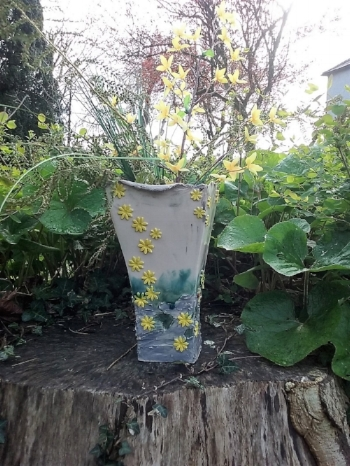 Large Vase from my Burren Collection - Golden Samphire