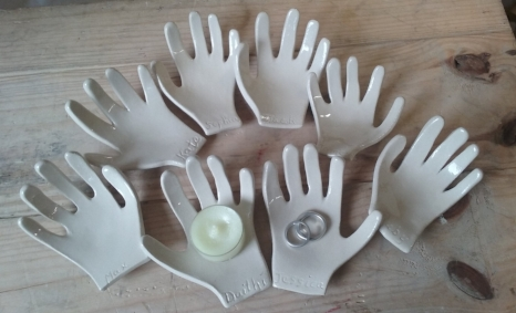Clay Hands. A lovely keepsake from that precious first year at school