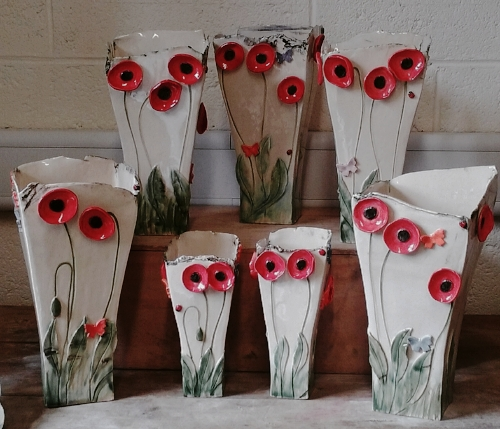 Selection of Poppy Vase - No two are ever the same!