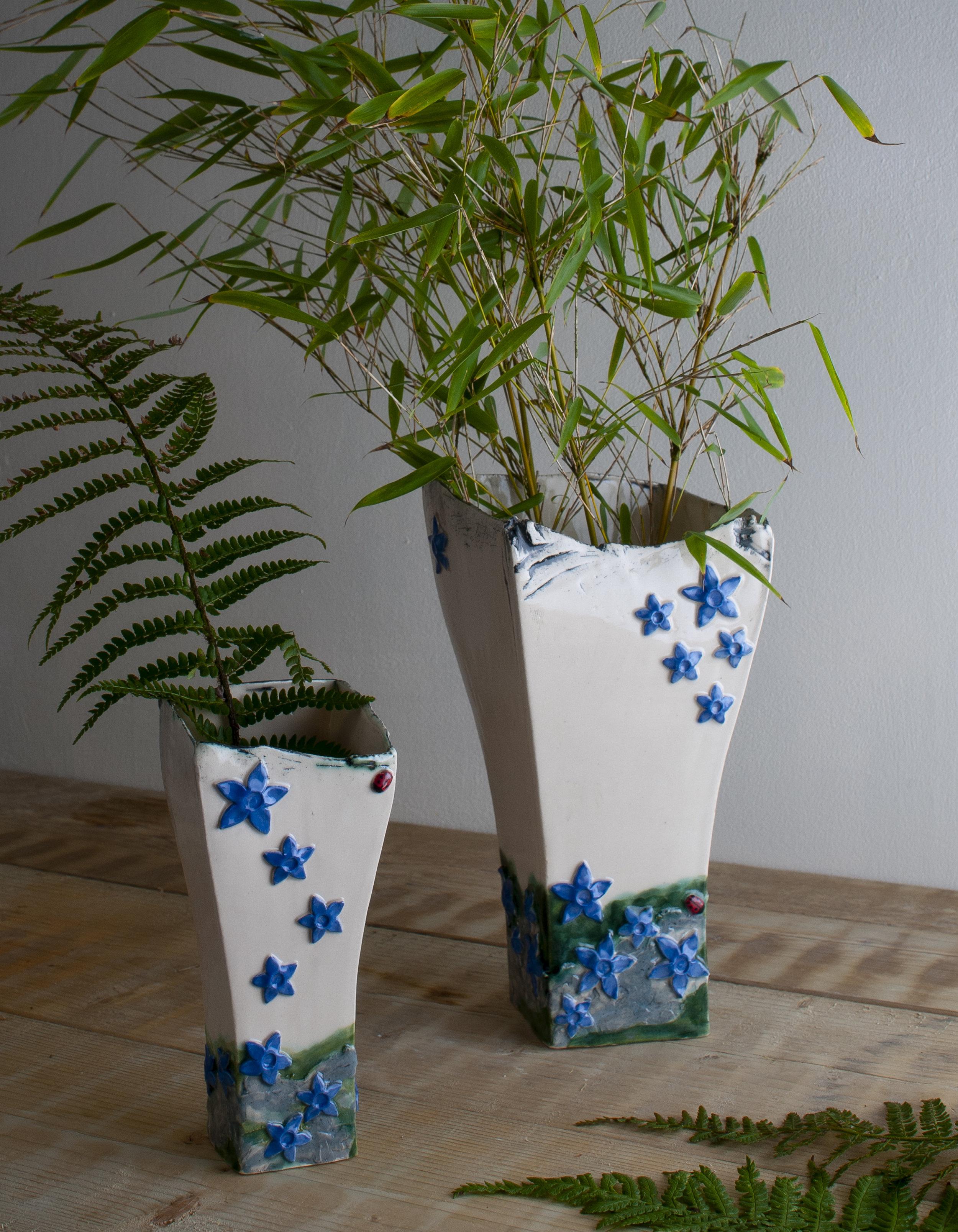 Blue Gentian Vase - Burren Collection