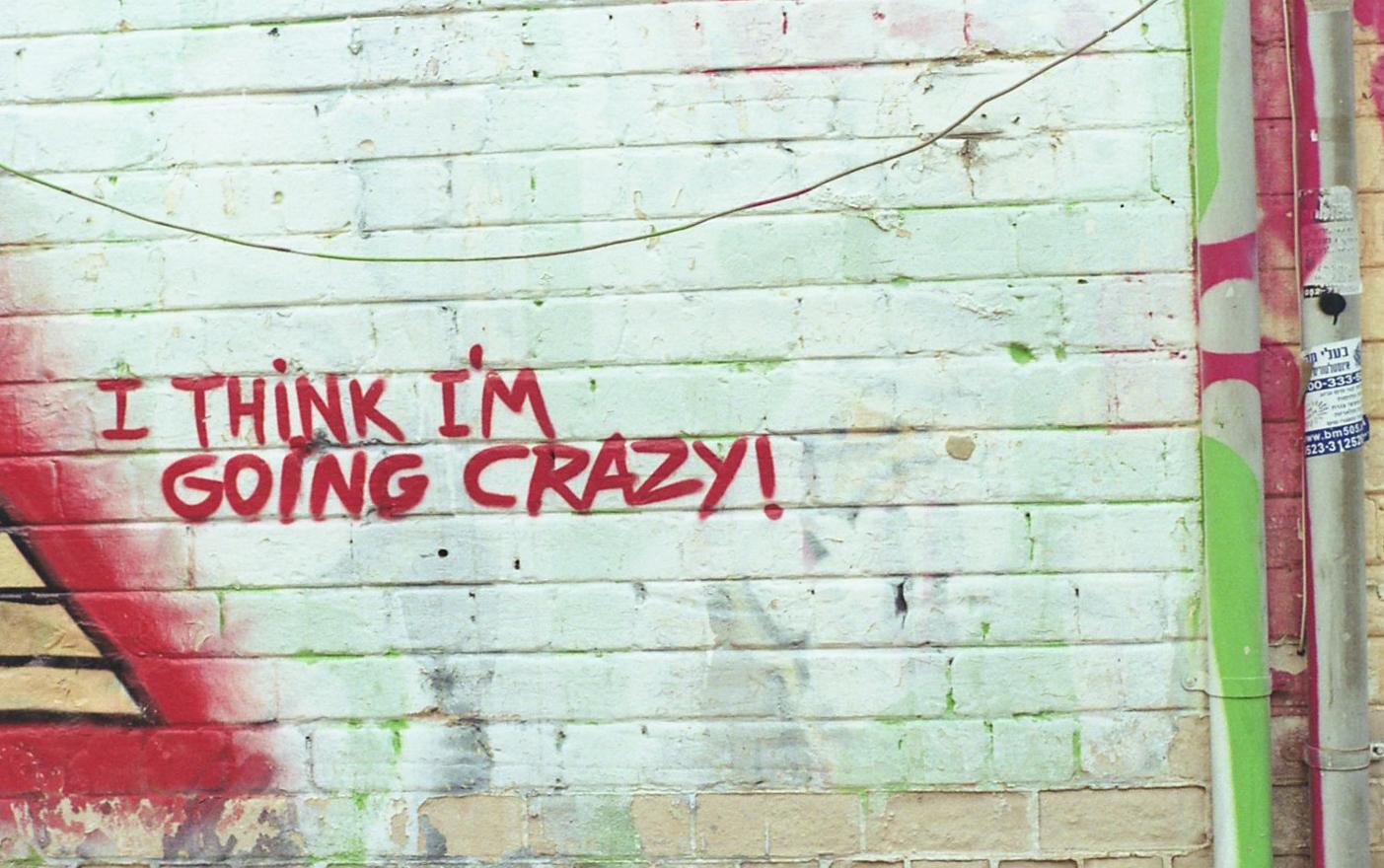 i think i'm going crazy