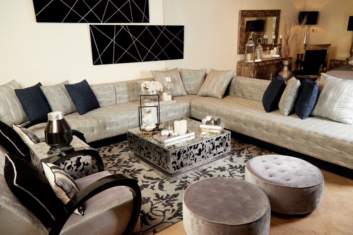 The Tufted Sofa, Tasulsul Center Table and our Liberty Chairs