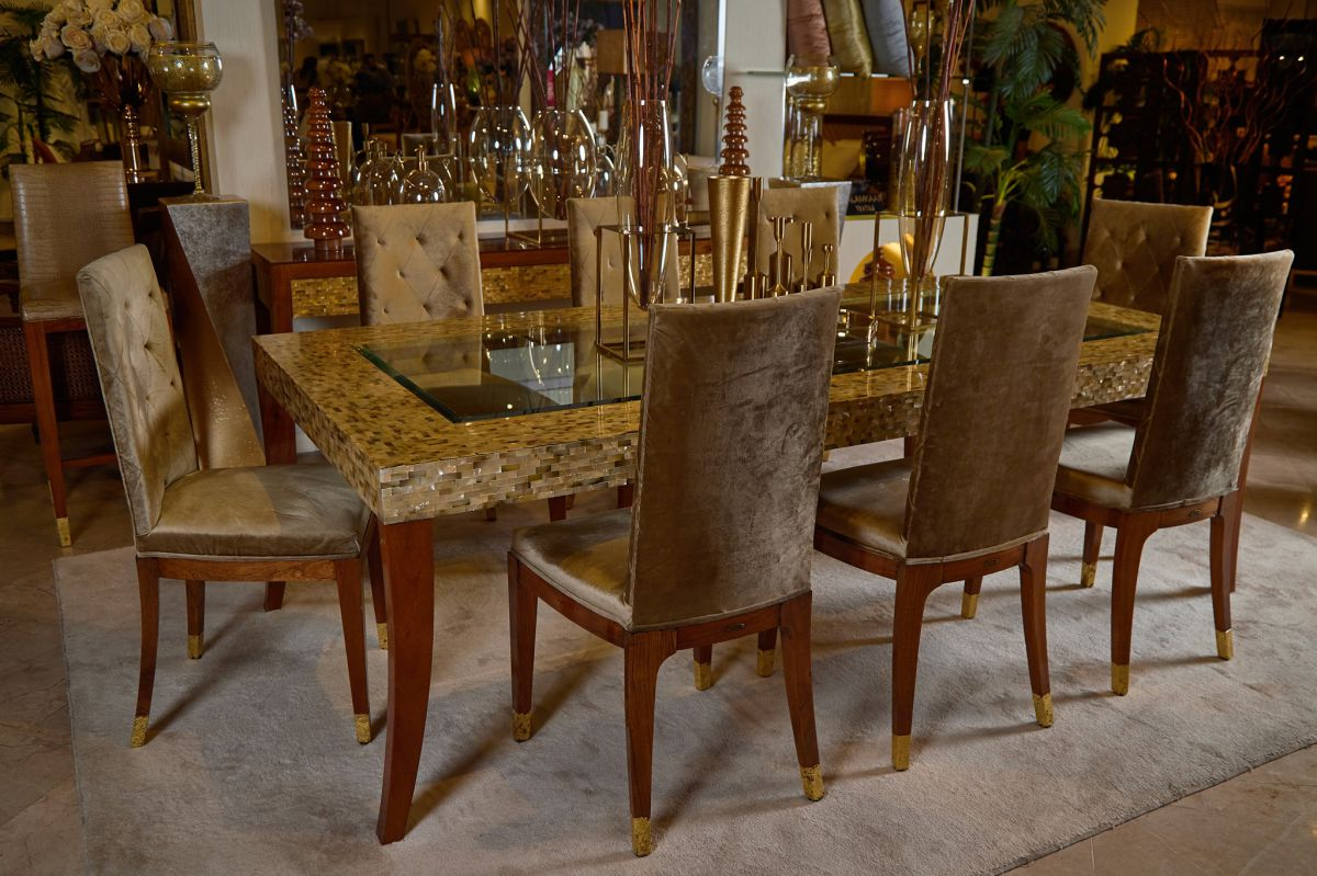 Mother of Pearl Dining Set and Console