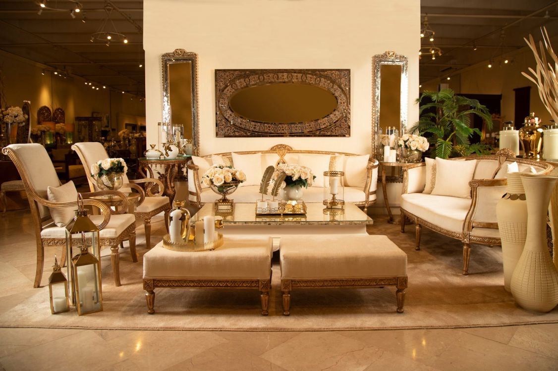 Glitz Sofa Set, paired with the Mosaic Frames