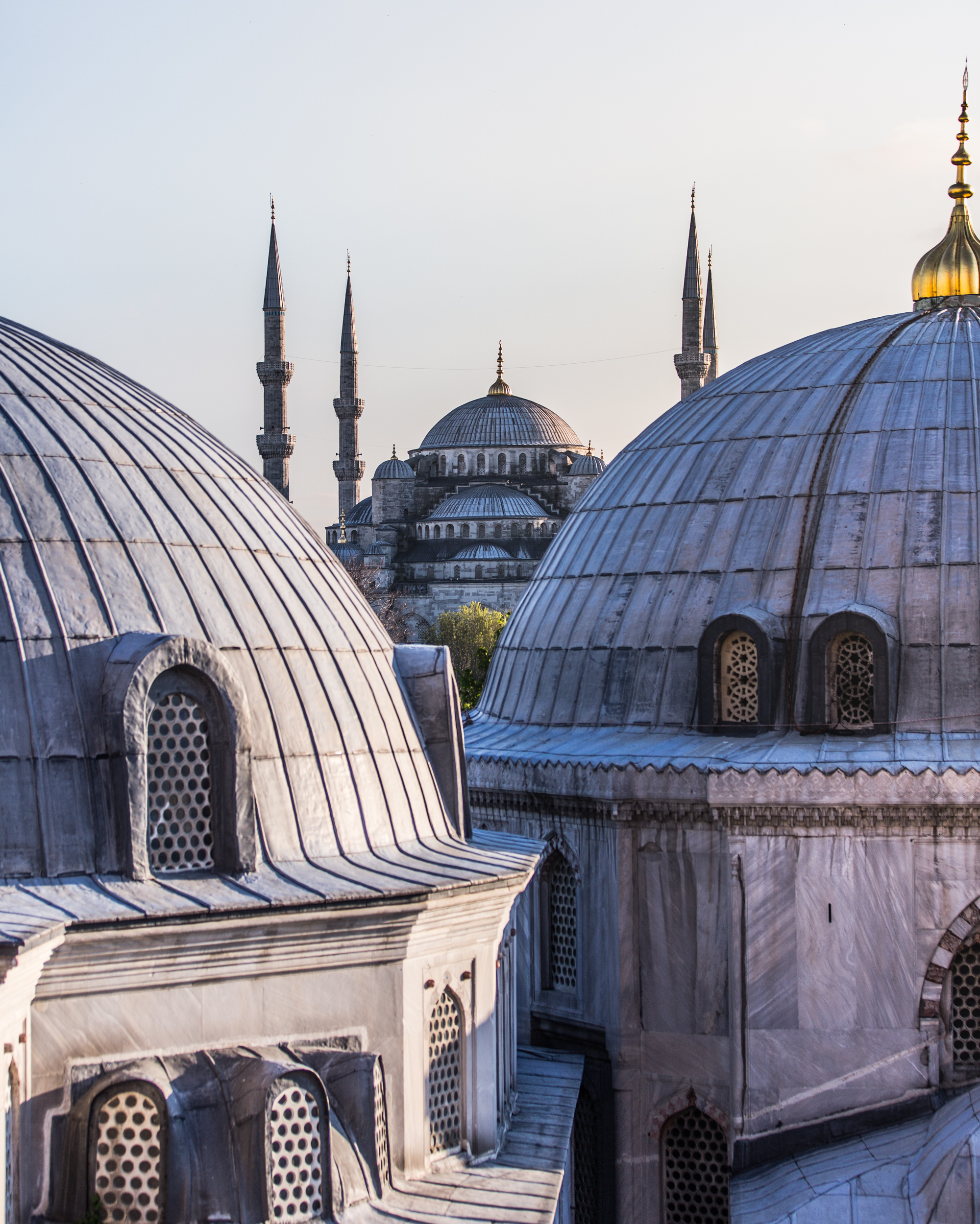 Blue Mosque seen from the window of Hagia Sophia