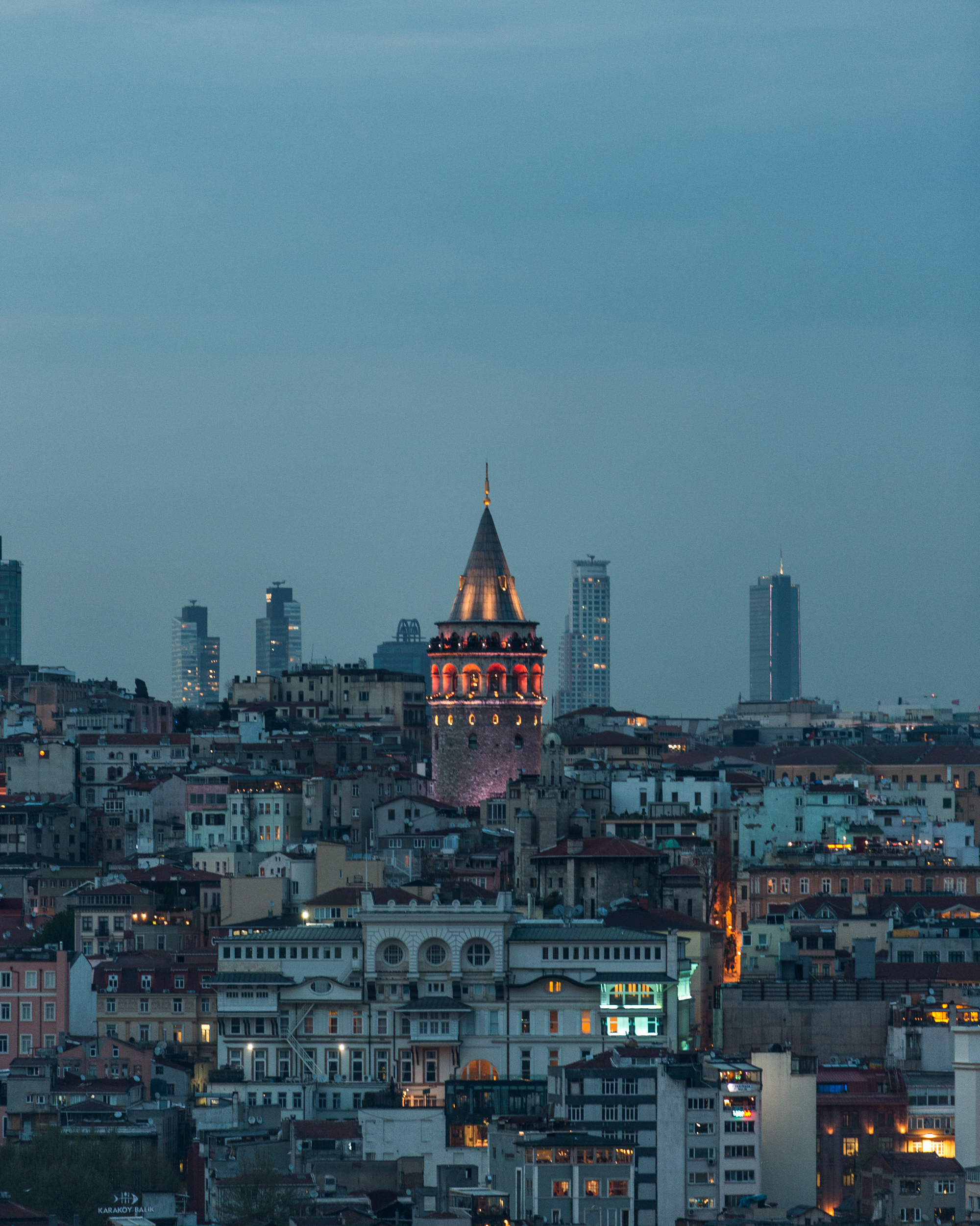 Galata Tower seen from across the Golden Horn
