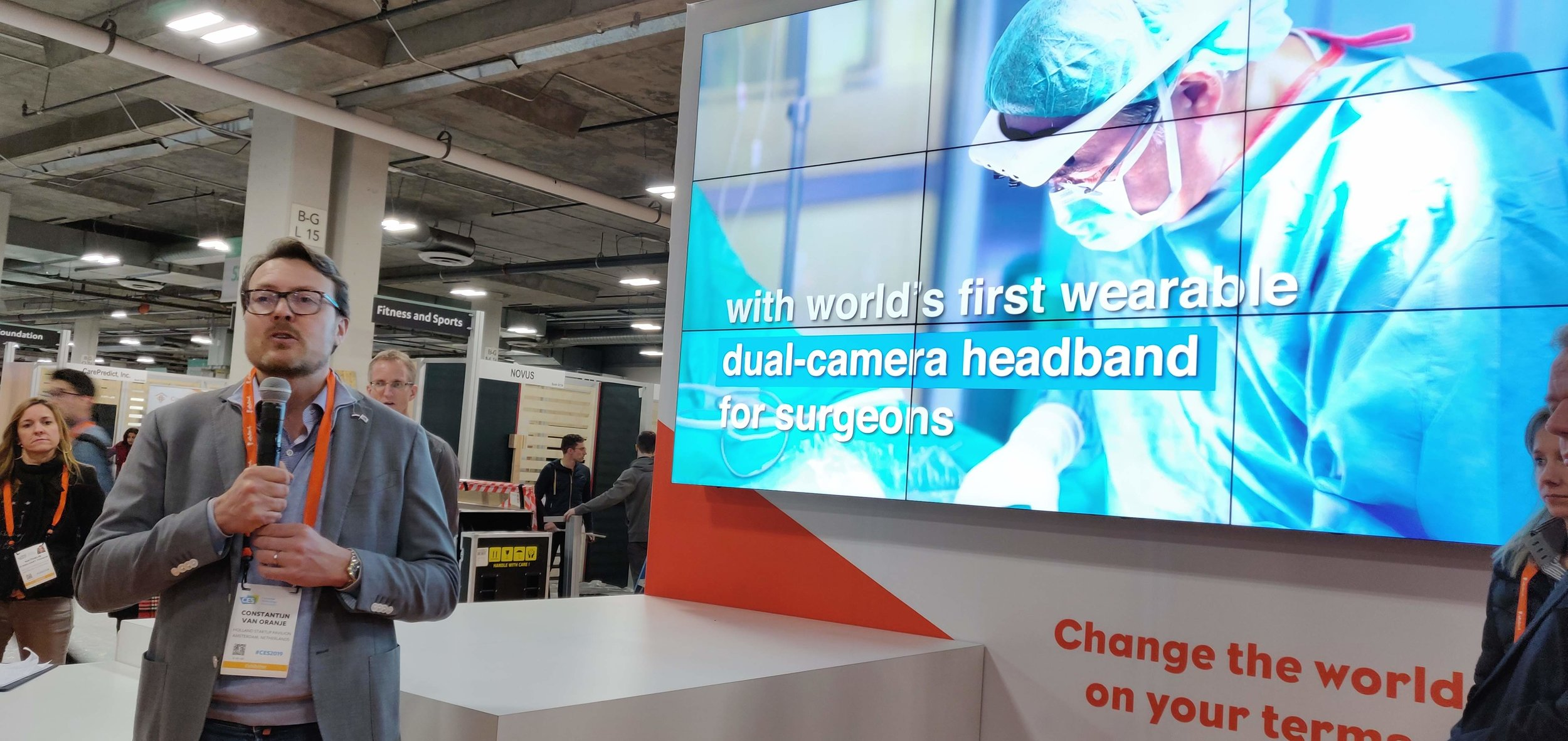 Prince Constantijn of the Netherlands opening the Holland Tech Square with our video playing in the background