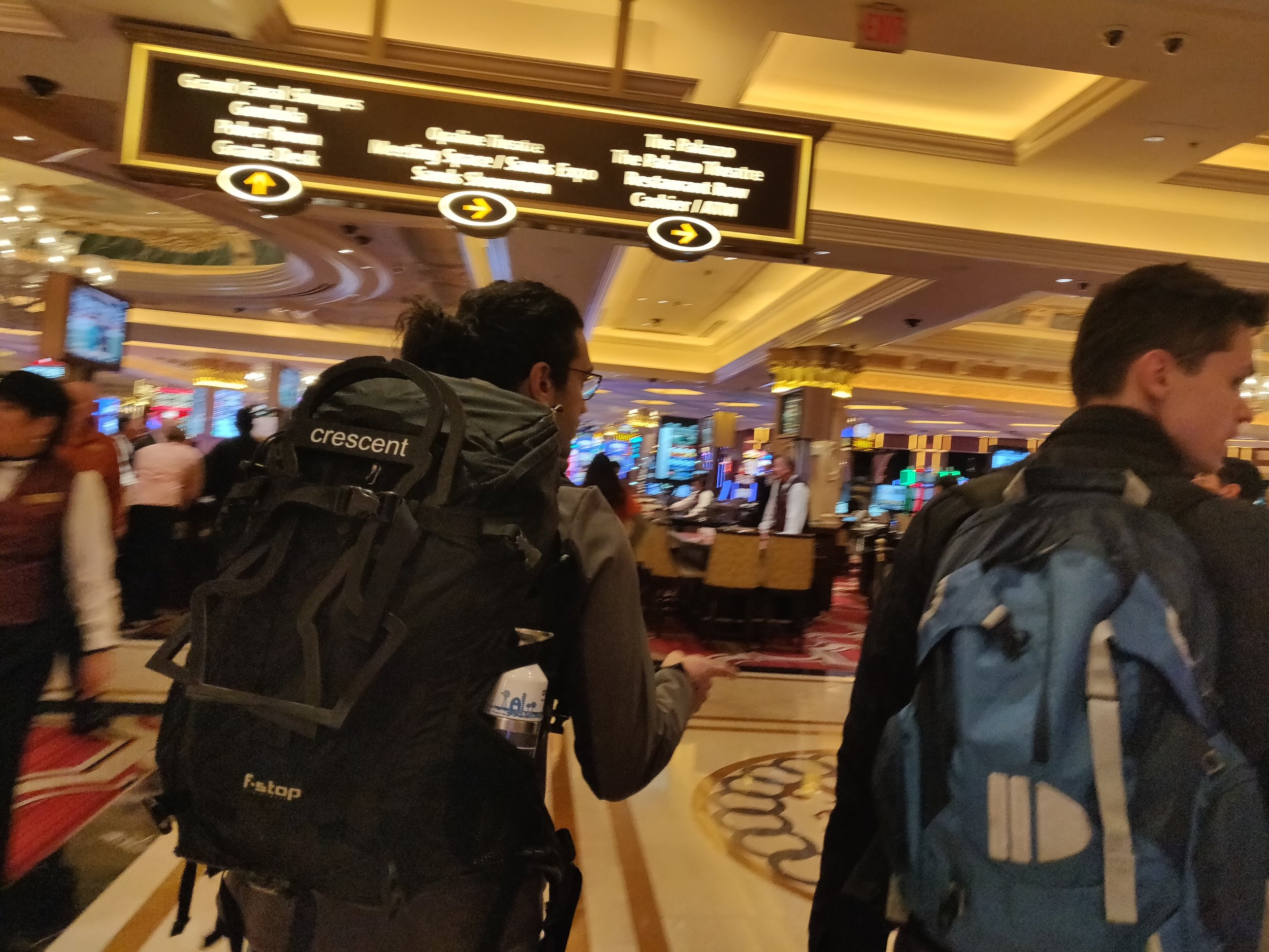 Samy getting lost on the Venetian's Casino Floor