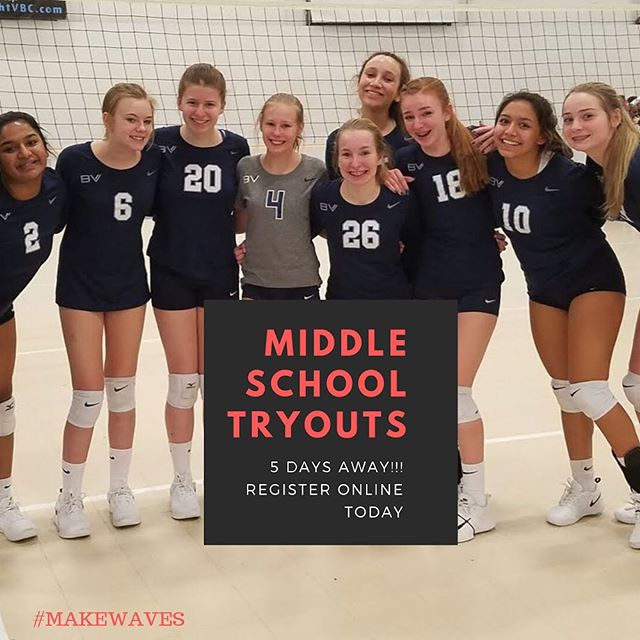 The 2019-20 club season is (almost) here! Register online for Middle School Tryouts today! #makewaves