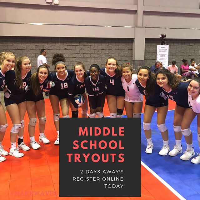 🚨🚨 Are you registered??? Only ✌️ more days until our first round of Middle School Tryouts!! #makewaves