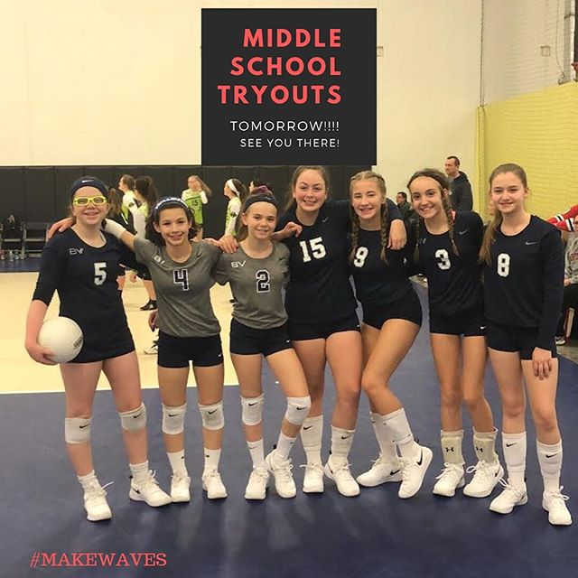 Tomorrow is the big day! Who's excited? 🙋♀️🏐. . . Reminder that online registration will close tonight at 9:00pm ($35). On site registration in the morning is $40. Also, all athletes participating in tryouts are required to have a current AAU Membership. Follow the directions located on our website to register your daughter!