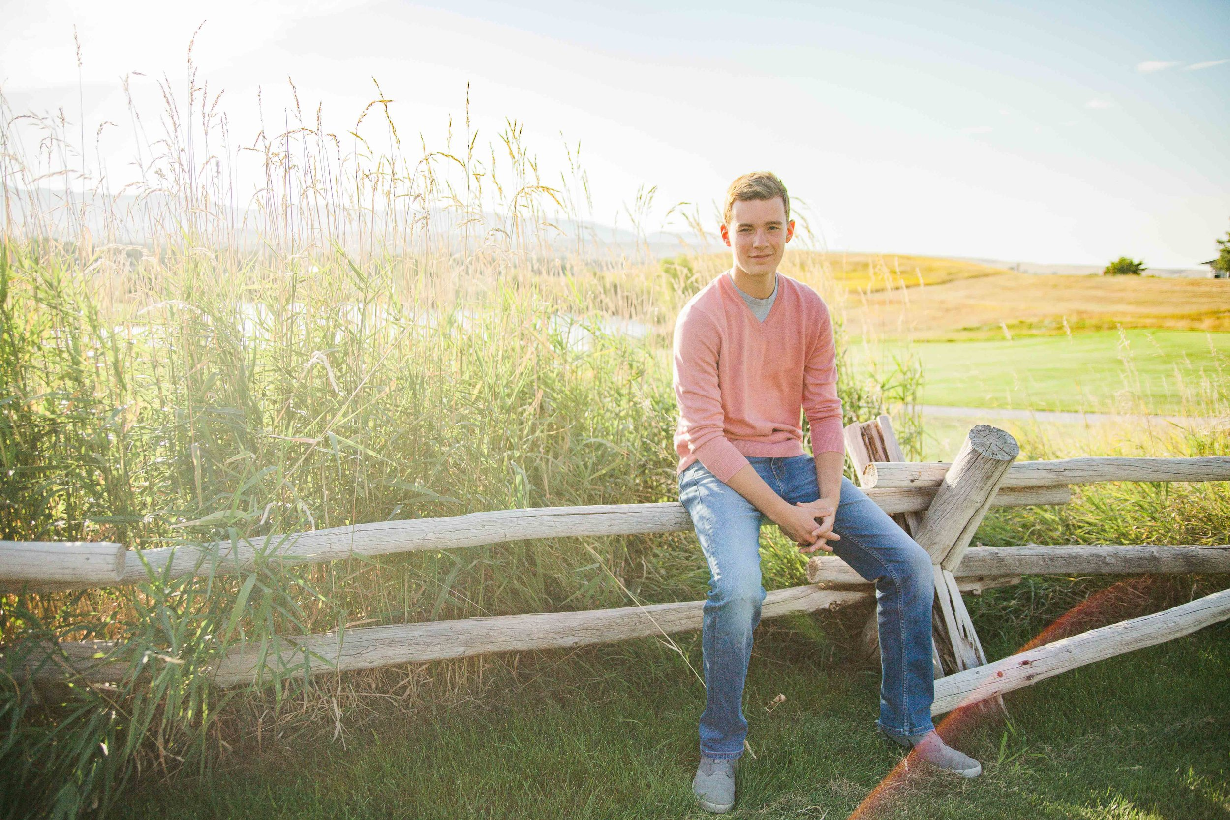 Sam's Senior Portrait Session at the Powderhorn Golf Club in Sheridan, Wyoming,