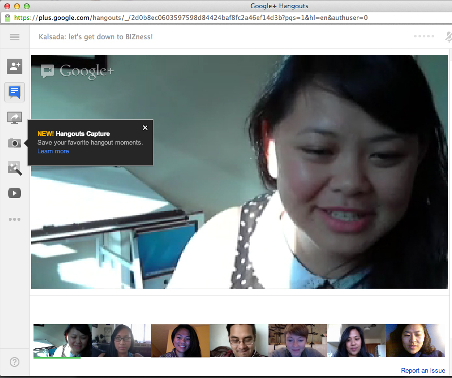 We use google hangout and skype a lot.