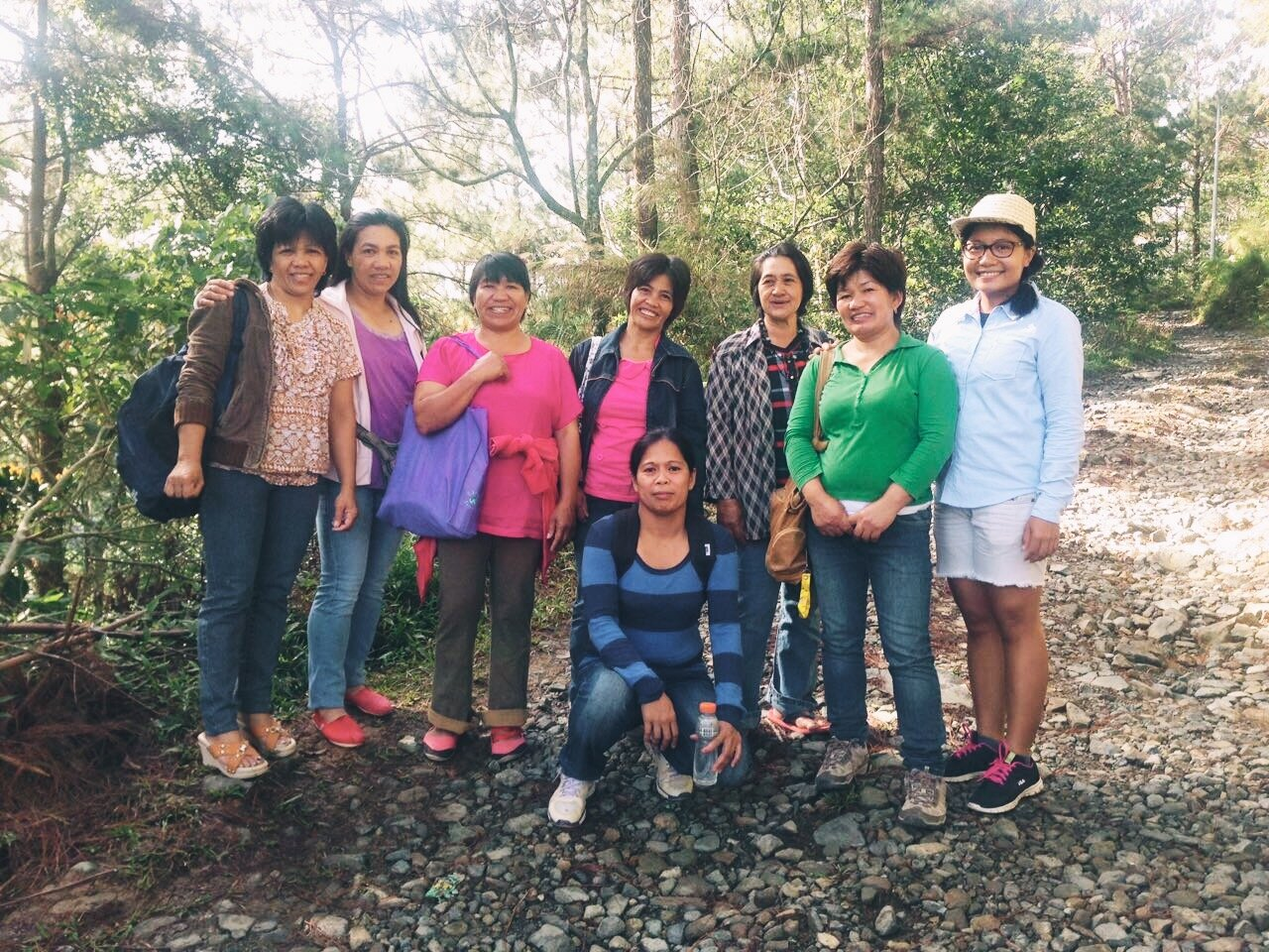 Tere with the women in coffee of Sitio Belis.