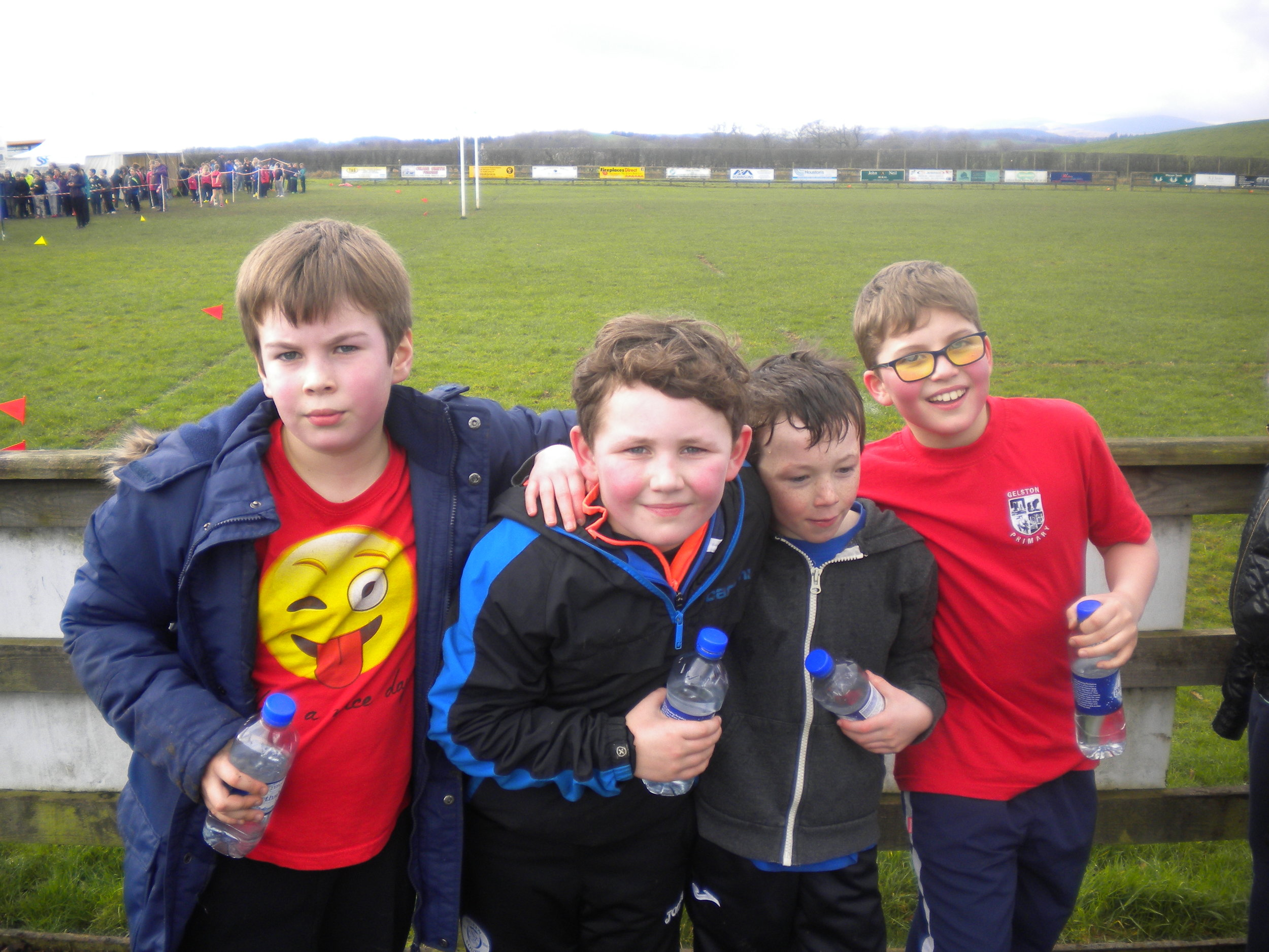 P5 boys survived their first experience of the festival.