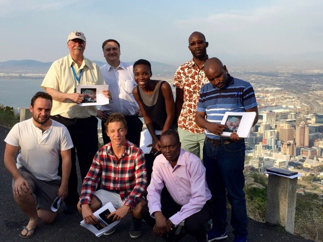 Dr. Madry with graduate students from the University of Cape Town SpaceLab on a field trip high above the city