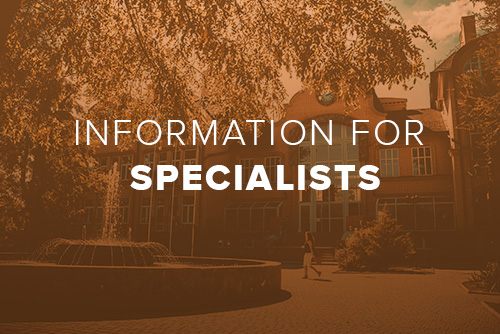 A link to information for prospective Specialists