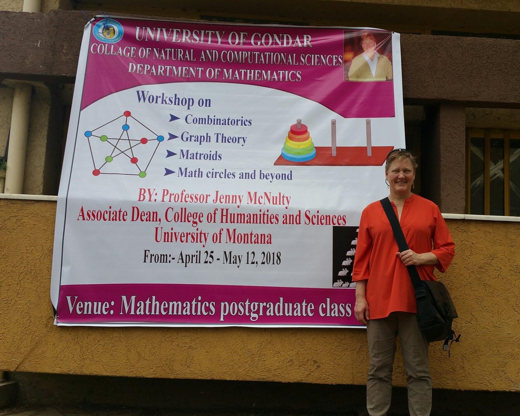Jenny McNulty: Hosted by the University of Gondar, Ethiopia