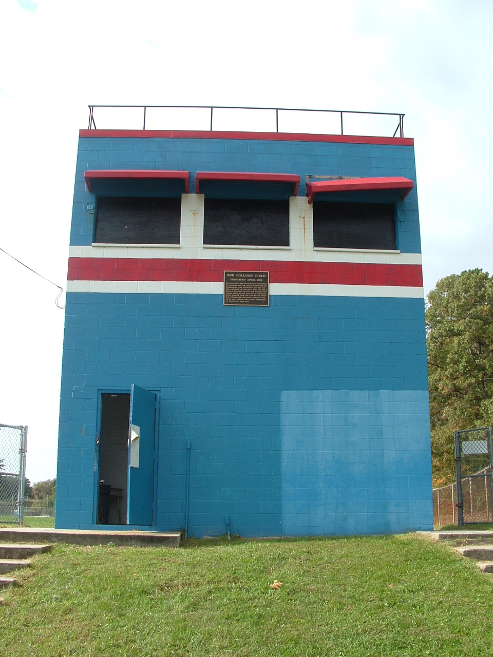 OMHS Press Box - Before