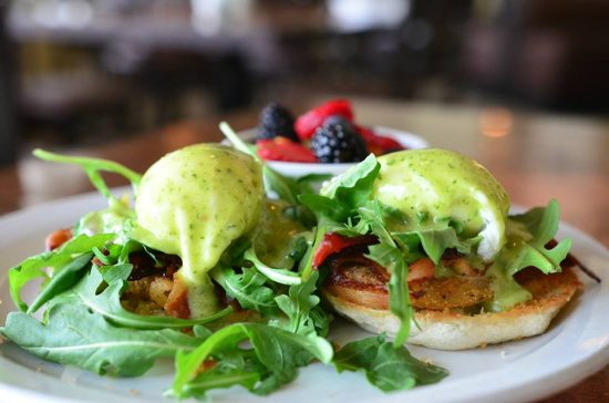 Pictured: Fried Green Tomato Benedict
