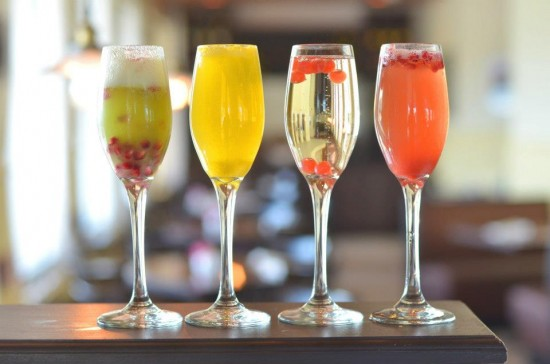 Colorful Mimosas to go with your breakfast or brunch!