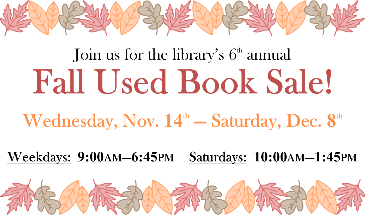 DPF_Fall Book Sale 2018.png